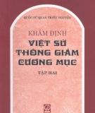 Ebook Khâm định Việt sử thông giám cương mục (Tập 2) - NXB Giáo dục