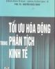 Tối ưu hóa động trong phân tích kinh tế - PGS.TS. Nguyễn Khắc Minh