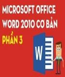 Microsoft Word 2010 căn bản: Bài học 3 - Các thao tác trên tập tin file Word 2010