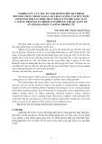 Nghiên cứu các yếu tố ảnh huởng đến qui trình đúc mẫu chảy nhằm nâng cao chất luợng vật đúc Inox