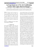 An Experiment on a CO  Air Conditioning System with Copper Heat Exchangers  2