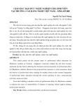 Giáo dục đạo đức nghề nghiệp cho sinh viên tại trường cao đẳng nghề Việt Nam – Singapore