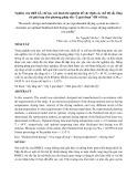 """Nghiên cứu thiết kế, chế tạo mô hình thí nghiệm để xác định các chế độ sấy tầng sôi phù hợp cho phương pháp sấy """"2 giai đoạn"""" đối với lúa"""