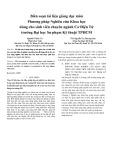 Biên soạn tài liệu giảng dạy môn Phương pháp Nghiên cứu Khoa học dùng cho sinh viên chuyên ngành Cơ Điện Tử trường Đại học Sư phạm Kỹ thuật TPHCM