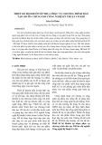 THIẾT KẾ BỘ KHUÔN ÉP NHỰA PHỤC VỤ CHƯƠNG TRÌNH ĐÀO TẠO 150 TÍN CHỈ NGÀNH CÔNG NGHỆ KỸTHUẬT CƠ KHÍ