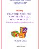Bài giảng Phát triển ngôn ngữ cho trẻ mẫu giáo qua thơ truyện