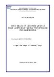 Luận văn Thạc sĩ Giáo dục học  - Võ Thị Bích Hạnh