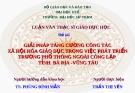 Báo cáo Luận văn Thạc sĩ Giáo dục học - Trần Thị Yến