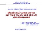 Báo cáo luận án Tiến sĩ khoa học giáo dục - Ngô Phan Anh Tuấn