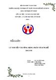 Tiểu luận: Lý thuyết vào ứng dụng phân tích nghề Dacum