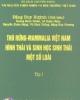 Ebook Thú rừng Mamalia Việt Nam hình thái và sinh học sinh thái một số loài (Tập 1)