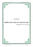 Bài tiểu luận: Phương pháp luận sáng tạo khoa học - HD: PGS.TS. Thái Bá Cần