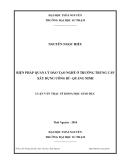 Tóm tắt Luận văn Thạc sỹ Khoa học Giáo dục: Biện pháp quản lý đào tạo nghề ở Trường trung cấp xây dựng Uông Bí - Quảng Ninh