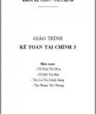 Giáo trình Kế toán tài chính 3 - TS.Thái Thị Hoa