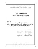Tiểu luận Lịch sử giáo dục chuyên nghiệp: Tóm tắt lịch sử phát triển giáo dục nghề nghiệp Trường Đại học công nghiệp TP. Hồ Chí Minh