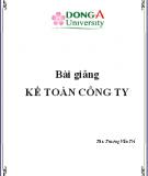 Bài giảng Kế toán công ty - ThS Trương Văn Trí