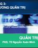 Bài giảng Quản trị học: Chương 3 - PGS.TS. Nguyễn Xuân Minh