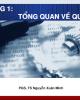 Bài giảng Quản trị học: Chương 1 - PGS.TS. Nguyễn Xuân Minh