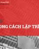 Bài giảng Kỹ thuật lập trình: Bài 6 - ThS. Trịnh Thành Trung