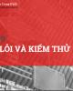 Bài giảng Kỹ thuật lập trình: Bài 9 - ThS. Trịnh Thành Trung