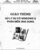 Giáo trình Xử lý sự cố Windows & phần mềm ứng dụng