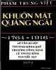 Ebook Khuôn mặt Quảng Ngãi (1764 - 1916): Phần 1