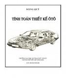 Giáo trình Tính toán thiết kế ôtô: Phần 1