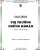 Giáo trình Thị trường chứng khoán: Phần 2 - ThS. Huỳnh Kim Thảo