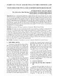 NGHIÊN CỨU ỨNG XỬ DẦM BÊ TÔNG CỐT THÉP COMPOSITE 2 LỚP