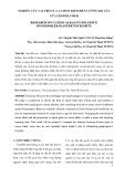 NGHIÊN CỨU VAI TRÒ CỦA CATION KIỀM ĐẾN CƯỜNG ĐỘ CỦA VỮA GEOPOLYMER