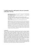 A feasible proposalfor small capacity solar power generation at Phu Quoc, Viet Nam
