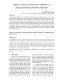 NGHIÊN CỨU MẠCH TĂNG ÁP DC-DC TỶ SỐ BIẾN ÁP CAO :  RESEARCH ON HIGH GAIN BOOST CONVERTERS