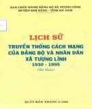Ebook Lịch sử truyền thống cách mạng của Đảng bộ và nhân dân xã Tượng Lĩnh 1930-1995: Phần 1