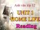 Bài giảng Tiếng Anh 12 Unit 1: Home life - Reading