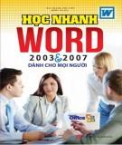 Ebook Tự học nhanh Word 2003 và 2007: Phần 1