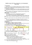 MÔ ĐUN 2 (IU08): XỬ LÝ BẢNG TÍNH NÂNG CAO VỚI MICROSOFTEXCEL 2010.A. LỜI NÓI