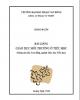 Bài giảng Giáo dục môi trường ở tiểu học - ĐH Phạm Văn Đồng (2014)