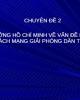 Bài giảng chuyên đề 2: Tư tưởng Hồ Chí Minh về vấn đề dân tộc và cách mạng giải phóng dân tộc