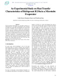 An Experimental Study on Heat Transfer Characteristics of Refrigerant R134a in a Microtube Evaporator