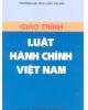Ebook Giáo trình Luật hành chính Việt Nam