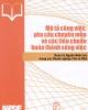 Ebook Mô tả công việc, yêu cầu chuyên môn và các tiêu chuẩn hoàn thành công việc