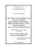 Đặc trưng văn xuôi phi hư cấu qua ba tác phẩm Hồi hức lính (Vũ Công Chiến), Biên bản chiến tranh 1-2-2-4.74 (Trần Mai Hạnh), Ký ức vụn (Nguyễn Quang Lập)