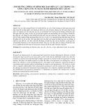Ảnh hưởng thông số hình học dao đến lực cắt trong gia công tiện cứng sử dụng mảnh hợp kim tiêu chuẩn