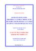 Đánh giá hàm lượng photphat và nitrat trong nước hồ Nghĩa Chánh, hồ Bầu Cả và một số giếng ở thành phố Quảng Ngãi