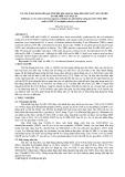 Các yếu tố ảnh hưởng đến quá trình hấp phụ chọn lọc dung dịch chứa As(V)