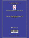Thiết kế và chế tạo hệ thống cơ khí rửa Hoa quả