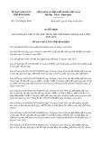 Quyết định số 15/2019/QĐ-UBND tỉnh BìnhĐịnh