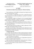 Quy định số: 03/2020-QyĐ/TC-HVNH