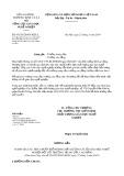 Công văn số 453/TCGDNN-KĐCL