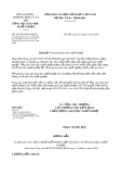 Công văn số 452/TCGDNN-KĐCL